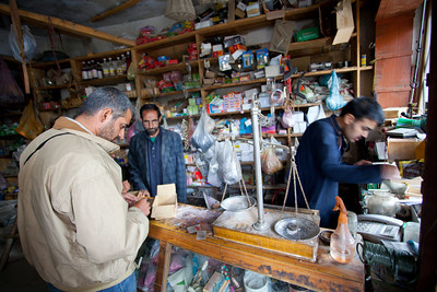 We are finally directed to Haji's shop who apparently has everything that other people don't have.  He had some lures that Adil bought, and we head off to the lake.