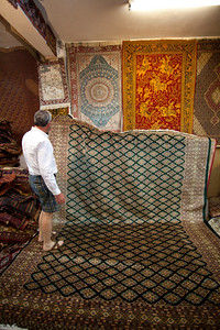 Matthew goes carpet shopping.  We went through hundred of carpets being unrolled,