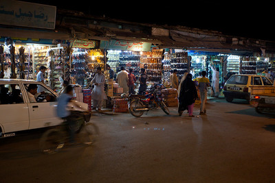 The Chappal market.  There are rows and rows of shops.