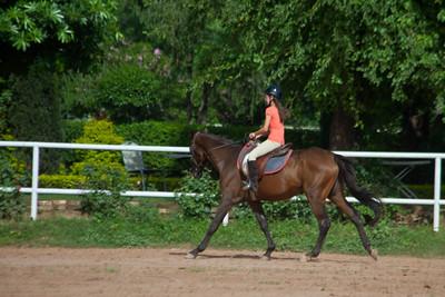 Anisa riding at the Islamabad Riding Club.
