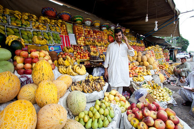 Our fruit seller in Saddar who we usually go to.