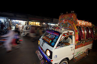 It was a busy market with the typical suzuki minivans that is normal transportation for most people in Pakistan.