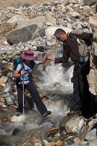 Crossing a stream before Askole.