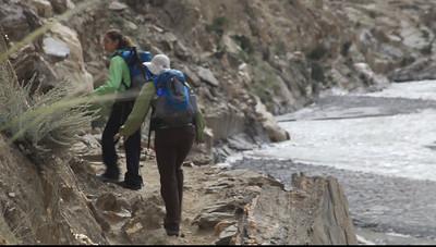 VIDEO - the trail skirting Garnet Mountain.