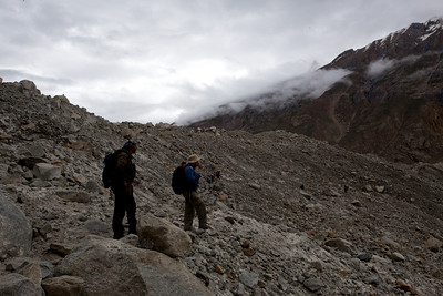 We are trying to cross the glacier at this point to get to the opposite side where our next two camps are located.