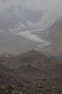 Looking across the Baltoro to the other side where the Dunge Glacier came down to join in.