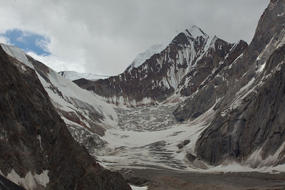 Looking back towards the Masherbrum glacier.