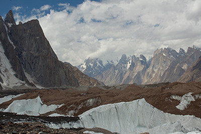 Looking back down the way we had just come.  The Baltoro glacier spread as far as the eye could see.