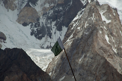 Murad had been telling us that we will see the Army camp shortly before we get to Concordia, so it was nice to see the Pakistan flag appear since it only flies above official sites.  I guess there is a law against private citizens flying the flag...according to Adil.
