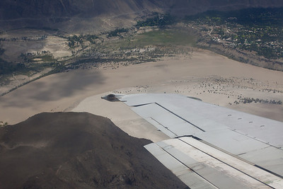 Approach into Skardu airport.  The plane banked and turned with wingtips almost scraping the sides of the valley.  A nice piece of flying.
