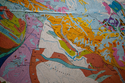 A geological map of Northern Pakistan.