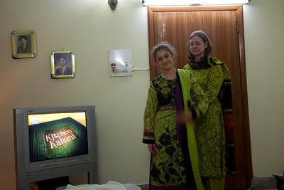 Anisa, Linda and Saadia had been busy buying shalwar Kameezes,
