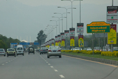 The oft travelled road to Islamabad from Pindi.