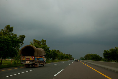 Dark clouds start gathering again as I near Lahore.
