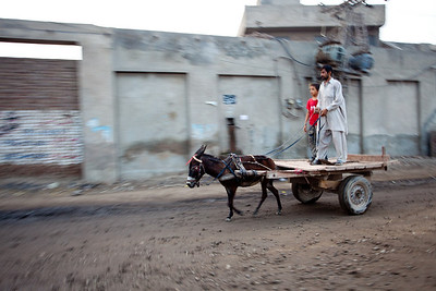 The other form of transportation in Lahore, the donkey cart.