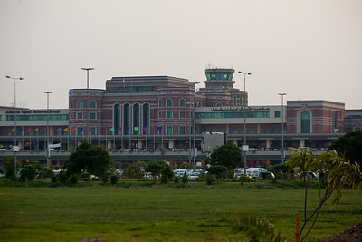 The Lahore International Airport otherwise know as the Allama Iqbal Airport.  It is less than 10 years old and they did a nice job on it.