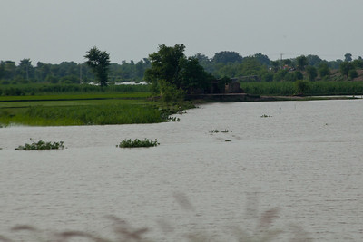 Flooding in the plains of Punjab was widespread.  You just had to look on either side of the highway.