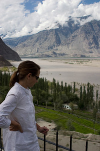 Tanya enjoys the view over the Indus.