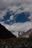 First view of K2 up the valley.
