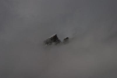 A peek through the clouds.