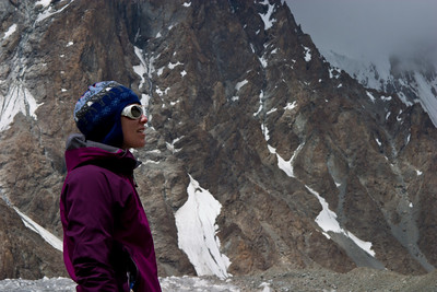 Erin takes in K2 one last time before turning around.