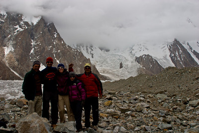 Murad, Rich, Erin, Tanya, and Khalil in front of K2.