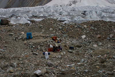 Broad Peak Base Camp.  Not much to look at.  The climbing season was winding down when we got there and most expeditions had cleared out already.