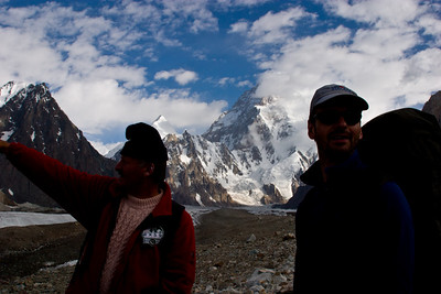 Ayub and Rich checking out the scenery on a break.