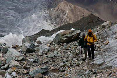 Murad, Dad and K2 on the way back down to Concordia.
