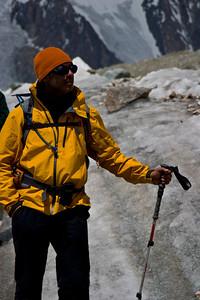 Dad looking at Broad Peak.