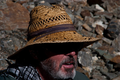 The mountains seemed to be plagued by an overabundance of flies.  They had disappeared by Concordia, because it was so cold.  But getting back to Urdukas, they returned with a vengeance.  For some reason they were particularly attracted to Matthew's hat.