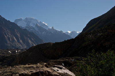 Urdukas on the right, Baltoro Glacier on the left, Broad Peak in the background.  Yes, that mountain we passed on the day up to K2 is over 15 miles away and about 3 valleys over and still towers over the other mountains in the area.  Amazing.