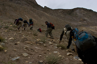 There is a new trail that crosses over the landslide higher up, so we are no longer merely feet from the Jaws of Death, but instead would need to make a series of bumbling fumbling mistakes and roll down a few hundred feet of hillside before hitting the river.  The trail is quite seem and high however.  A tougher walk, but safer.