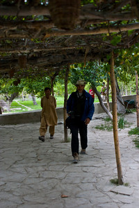 Coming to this place after the wilderness was really wild.  Murad and Dad coming in from the orchard.