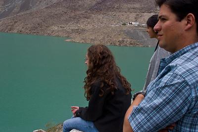 Anisa, Misha and Ignacio (freshly shaved at a barber shop in Skardu) enjoying the view.