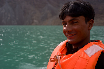This is apparently Ibrahim's first boat ride.  He has had a lot of firsts on his travels with us.