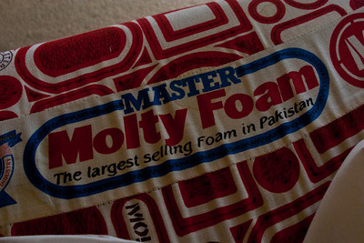 Our first night back in civilization and real beds was amazing.  The mattresses weren't anything special by any stretch of the imagination, but after sleeping on rocks for two weeks, it was heaven.  I felt the need to commemorate the experience with a picture.  Master Molty Foam.  Actually turned out to be a pretty big foam mattress producer in Pakistan.