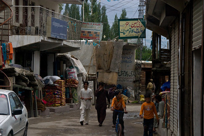 Down one of the side streets in Skardu.