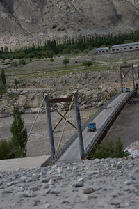 Another look back at the really nice bridge, as our other two jeeps cross.