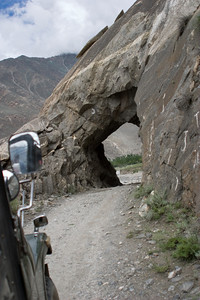 We all load up again and we are on our way.  We pass through a small rock tunnel.
