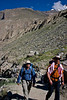 Ignacio and Dad walking up the trail.