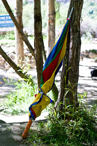 We aren't quite sure where this umbrella came from, but it went with us all the way up to K2 and back.  It was quite colorful, and the porters would often use it as a walking stick.