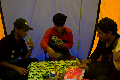 We arrive back at camp to find Dad playing cards with Asif and Ibrahim.  They taught us this card game that was cleverly named The Matching Numbers Game.  It was actually pretty good and was a hit with our group.  Ibrahim was very good at the game, but Khalil was even better.