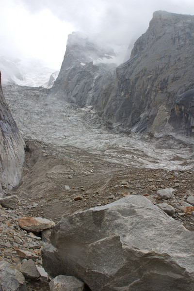 Feeder glacier from a rest break.