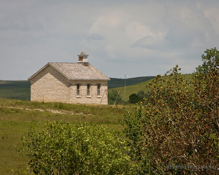 One room school house on the Tallgrass Prairie National Preserve