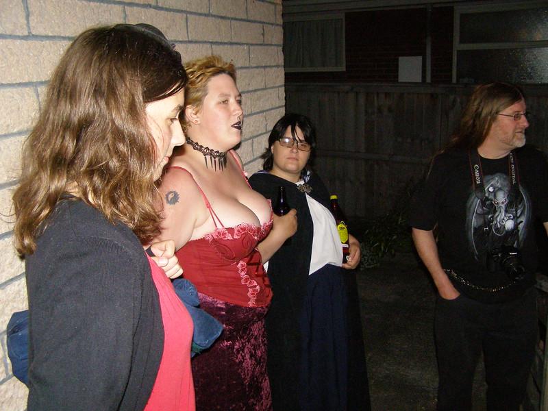 Hannah, Rogue, Sarah, Phil