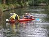 Team Lurve Boat are downriver. JD, Declan, John