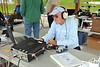 Quint W7CQW operates Morse Code for Field Day.