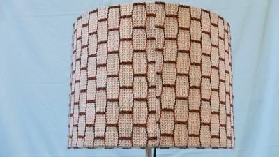 Ständerlampe 70iger – runder Lampenschirm