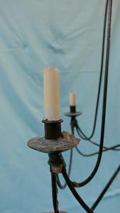 Kerzenleuchter, Schmiedeisern, mit Löschkappe -& Verlängerungsstücken